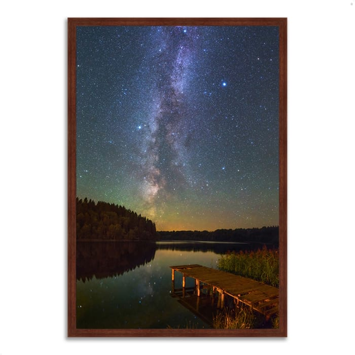 Framed Photograph Print 22 In. x 32 In. Northern Sky Multi Color