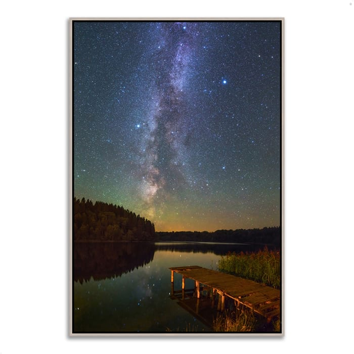Fine Art Giclee Print on Gallery Wrap Canvas 32 In. x 47 In. Northern Sky Multi Color