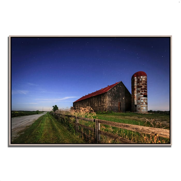 Fine Art Giclee Print on Gallery Wrap Canvas 32 In. x 22 In. So God Made a Farmer Multi Color
