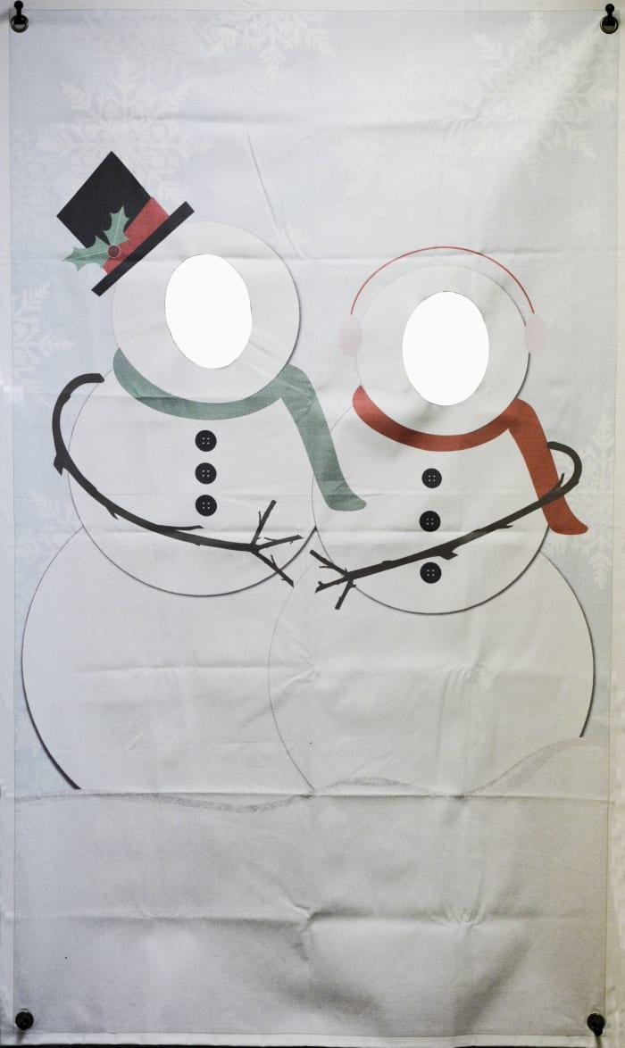 Mr. & Mrs. Snowman Photo Banner
