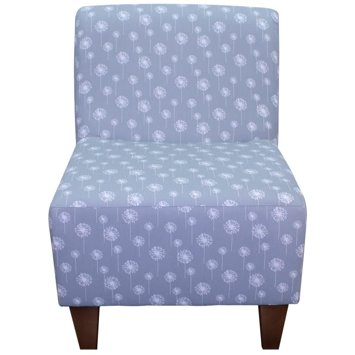 Amanda Dandelion Print Armless Slipper Chair
