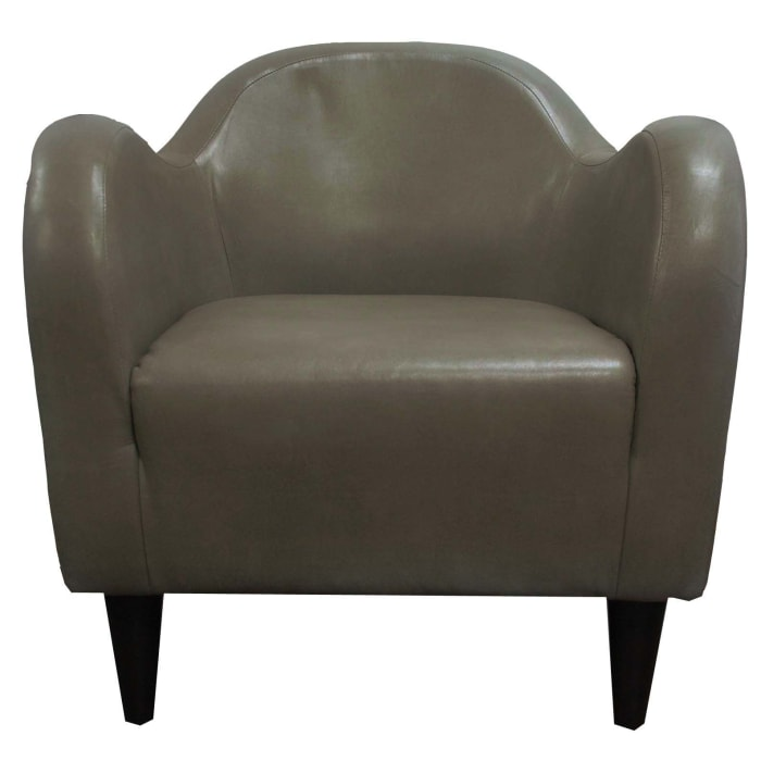 Taupe Leatherette Club Chair