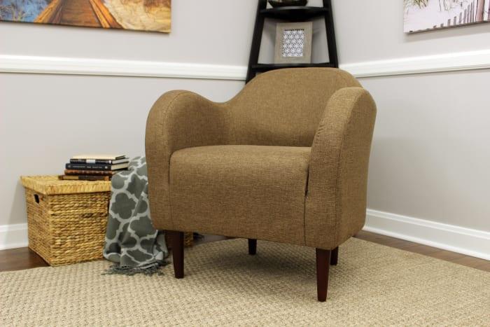 Pecan Club Chair