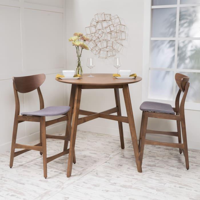 Walnut Counter Height Dining Set