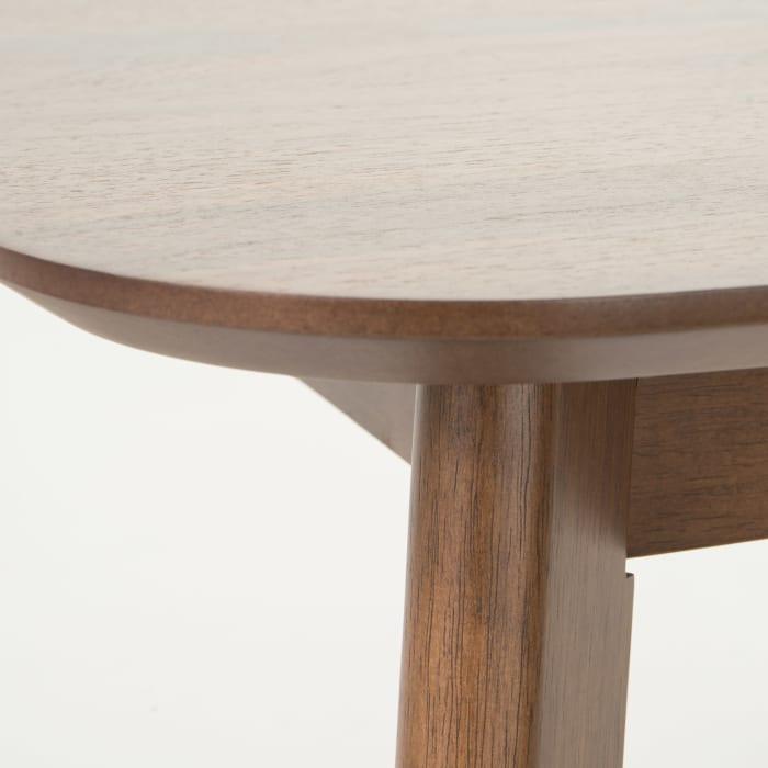 Charcoal & Walnut Mid-Century Fiberboard 5-Piece Dining Set
