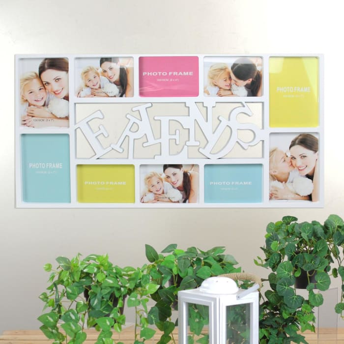 Friends Picture Collage Wall Frame Decoration - White