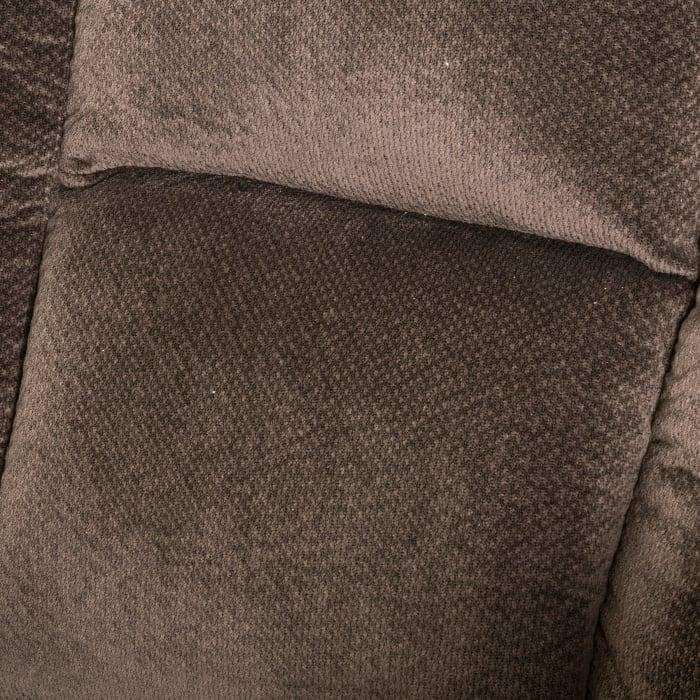 Chocolate Fabric Gliding Recliner