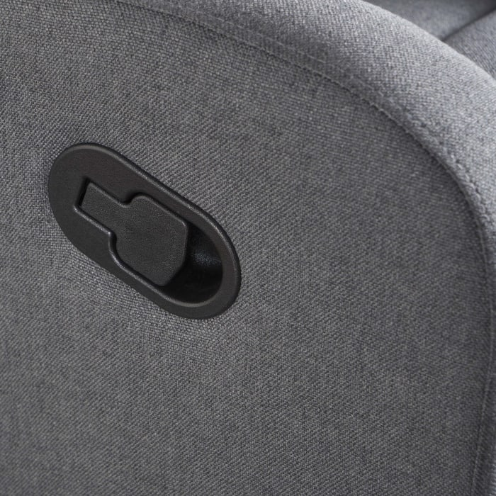 Light Gray Classic Upholstered Gliding Recliner