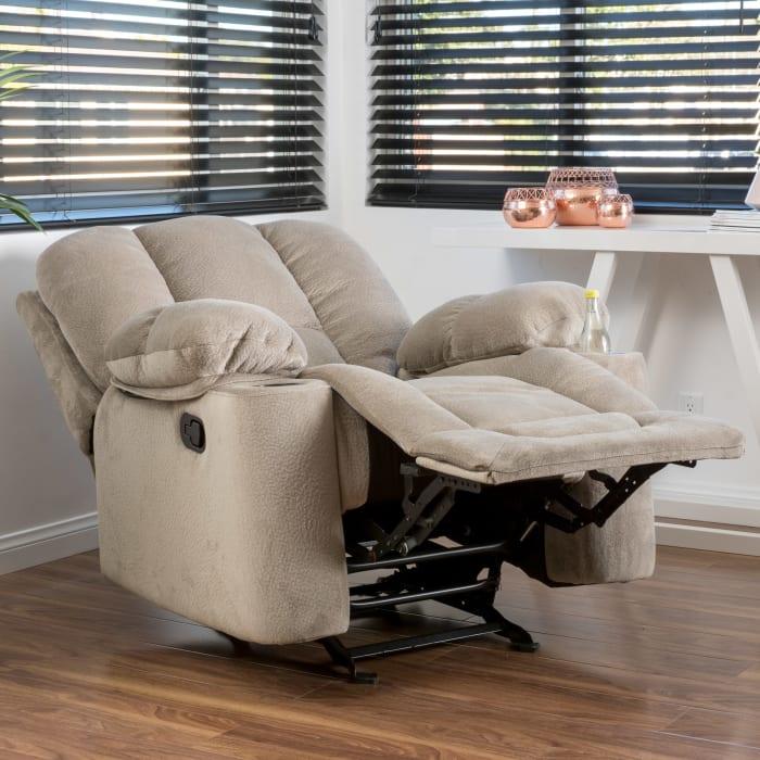 Latte Upholstered Gliding Recliner