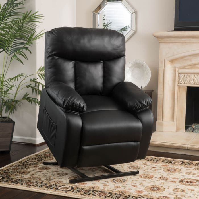 Black Leather Lift Up Chair