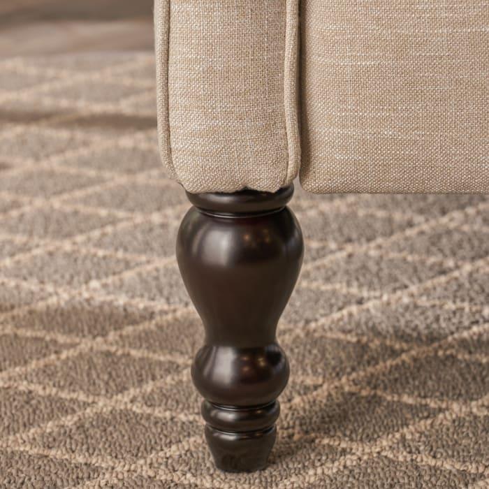 Light Beige Upholstered Recliner