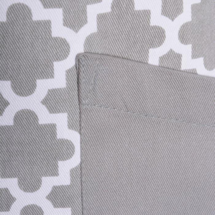 Geometric Gray Apron