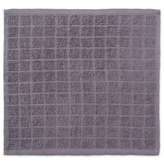 Gray Window Pane Dishcloth Set of 6