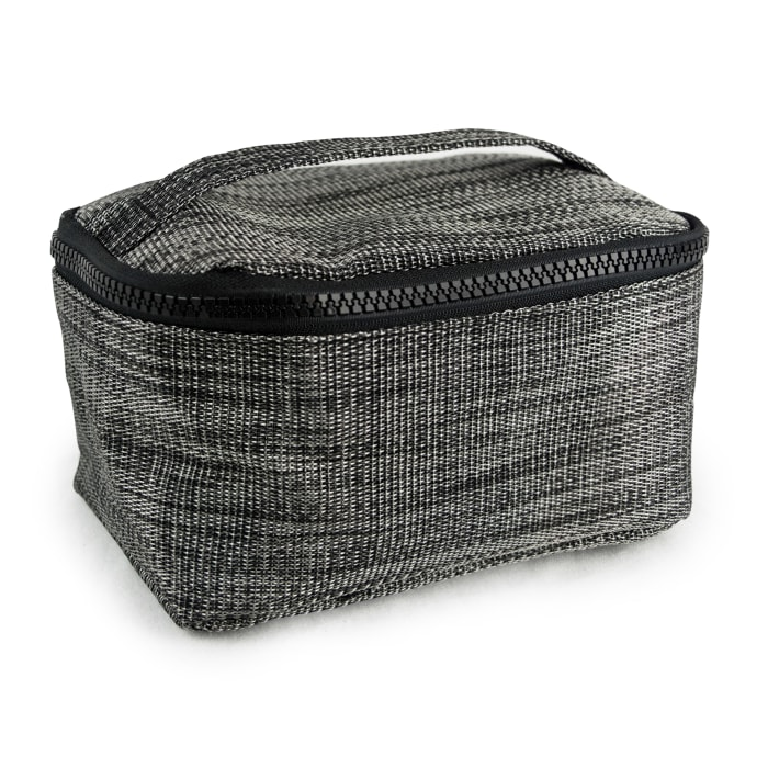 Modern Black Cosmetic Bag with Handles