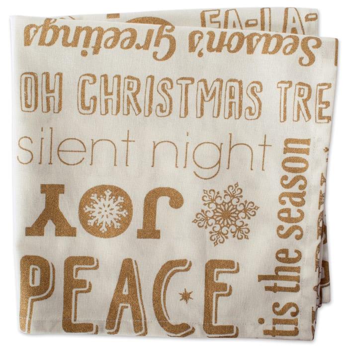 Christmas Wishes Gold Napkins Set