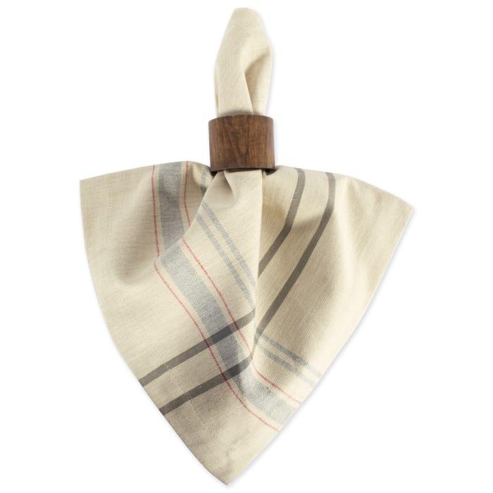Mabel Gray Plaid Cotton Napkin Set