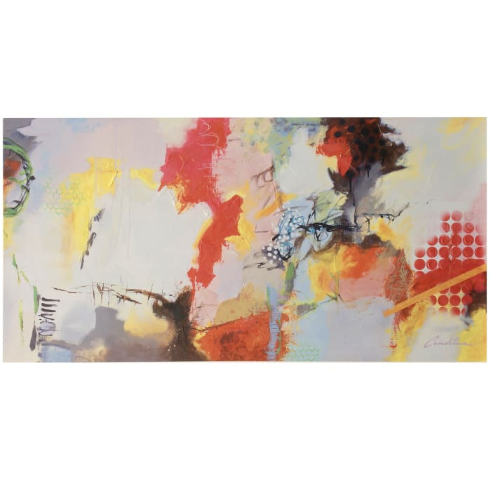 Abstract Printed & Hand-Painted Canvas Wall Art