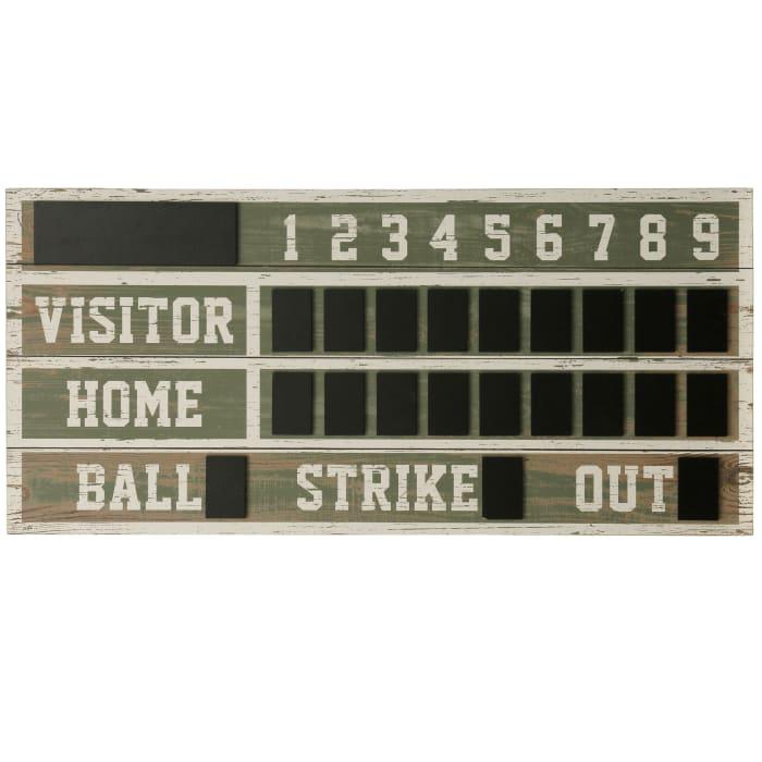 Wooden Scoreboard Wall Decor