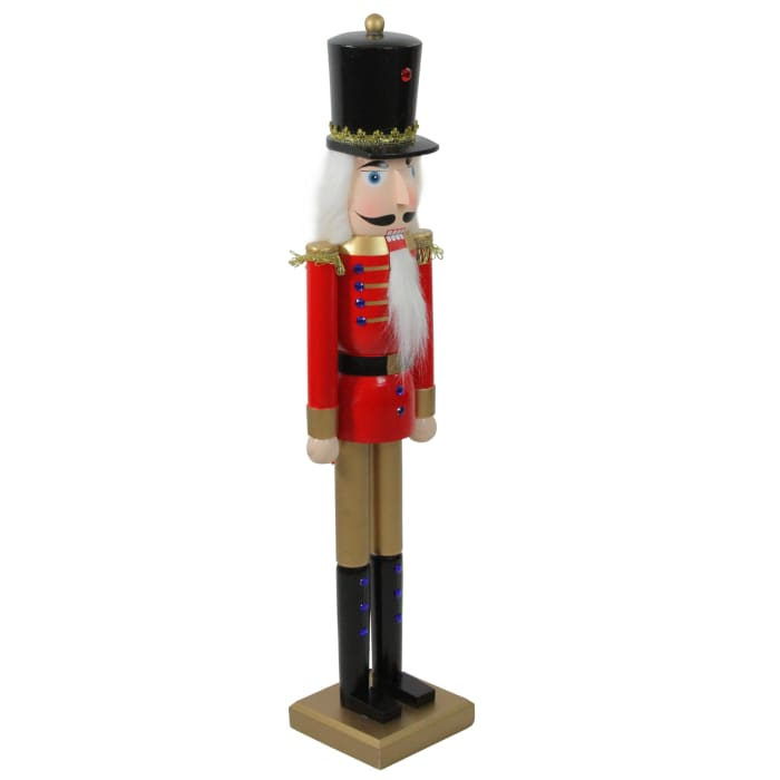 Red & Gold Nutcracker Soldier with Sword