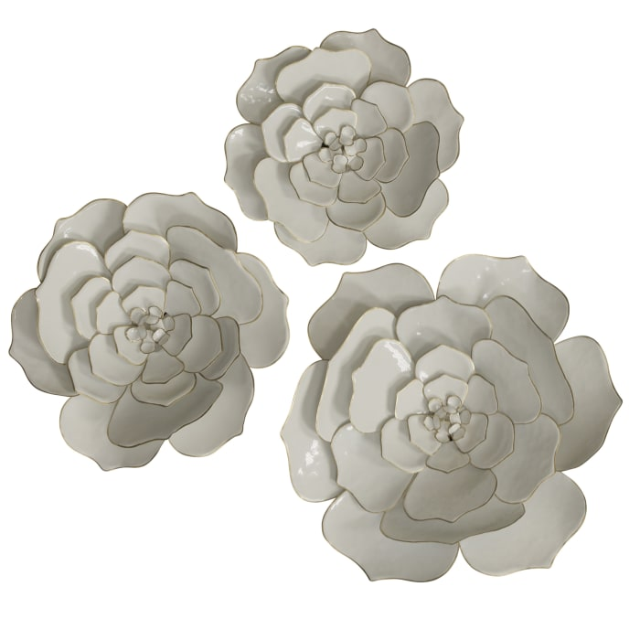 Floral Metal Wall Art Set of 3