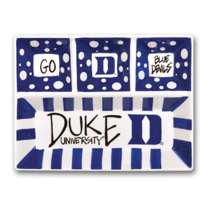 Duke Ceramic 4 Section Tailgating Serving Platter