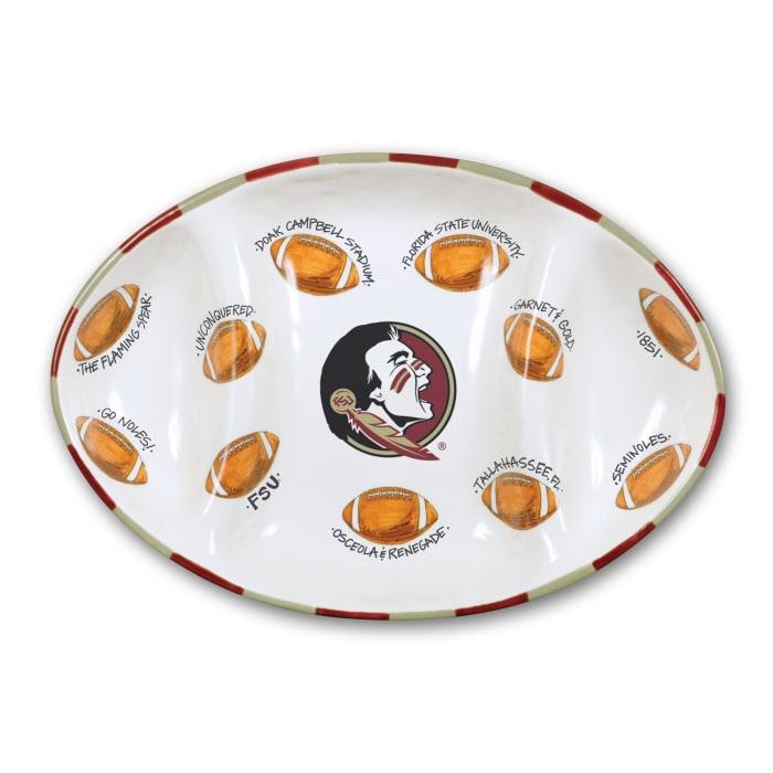 Florida State Ceramic Football Tailgating Platter