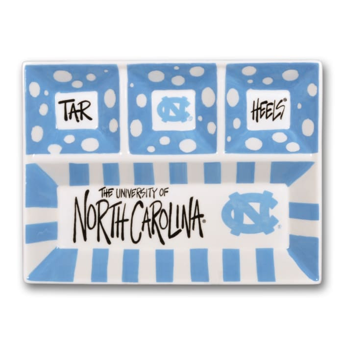 North Carolina Ceramic 4 Section Tailgating Serving Platter