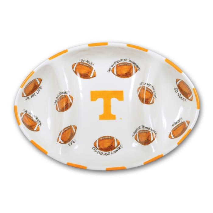 Tennessee Ceramic Football Tailgating Platter
