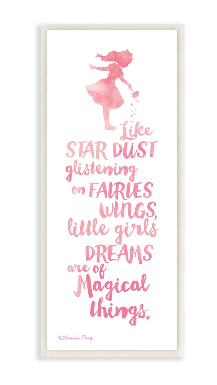 Magical Dreams Wood Plaque Wall Art