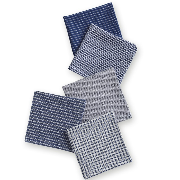 Blue  Dish Towel Set