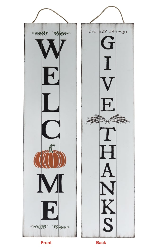 Give Thanks Reversible Porch Sign