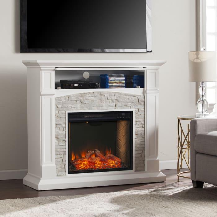 Frederick Smart Media Fireplace White