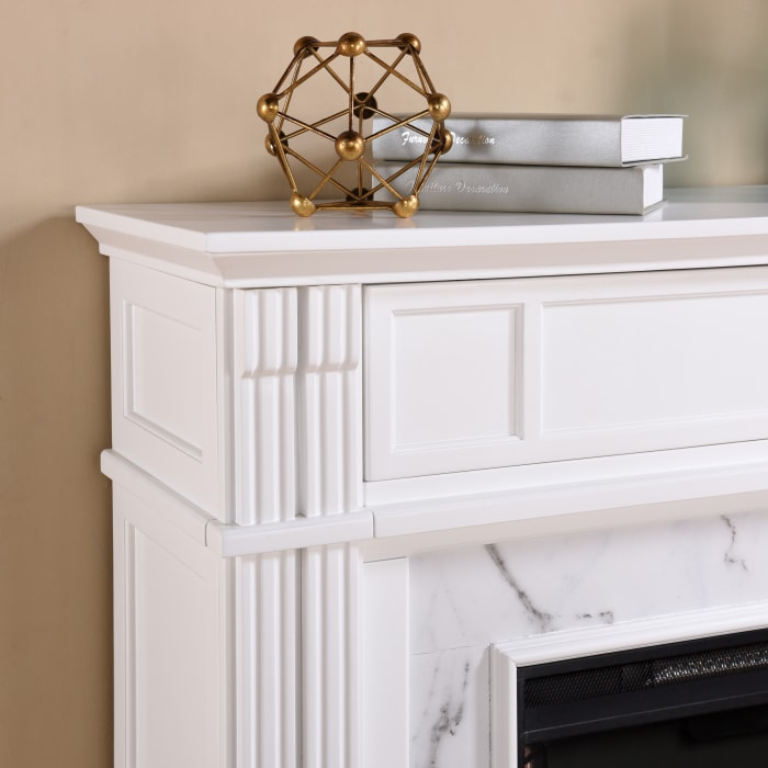 Reims Electric Alexa Smart Media Fireplace White