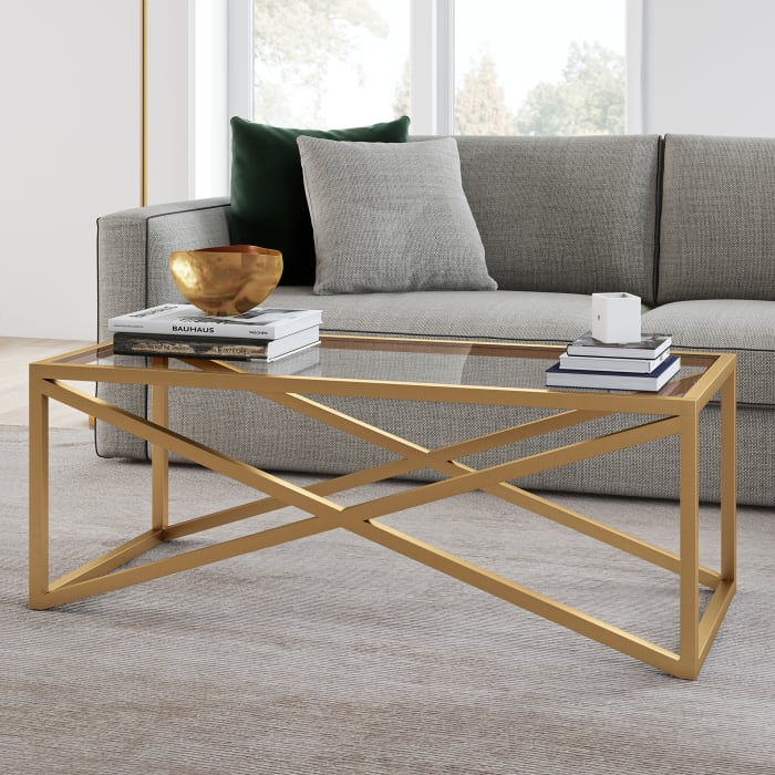 Calix Brass Finish Coffee Table