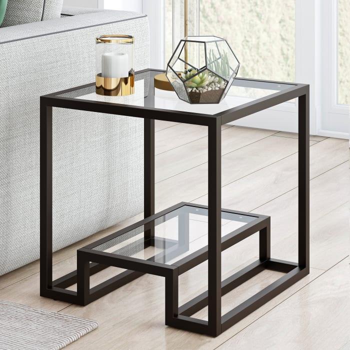 Athena Blackened Bronze Side Table