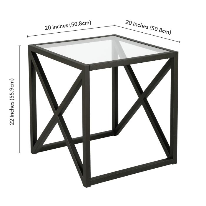 Calix Blackened Bronze Side Table