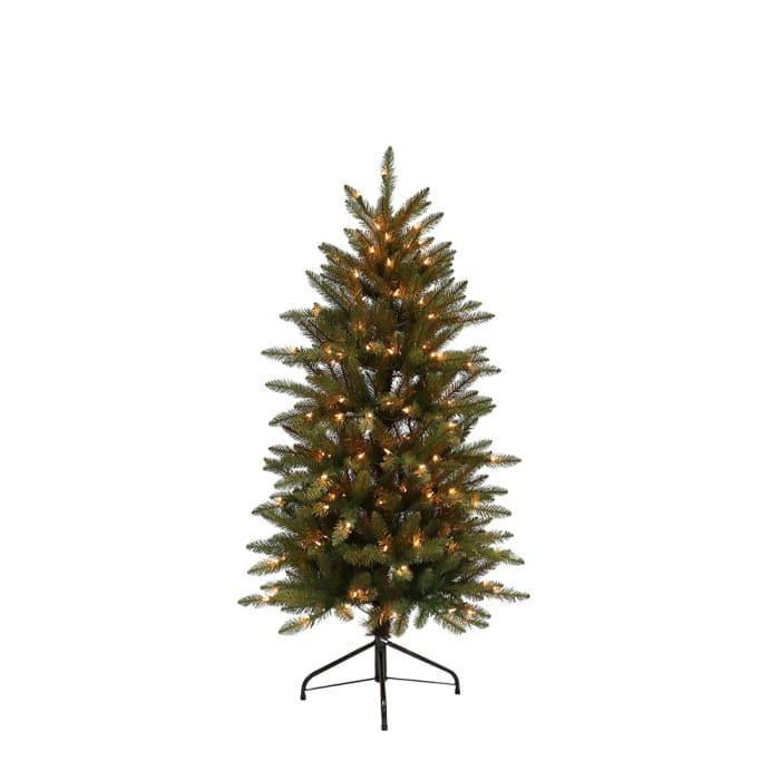 4 1/2 ft. Pre-lit Fraser Fir Pencil Artificial Christmas Tree 150 UL listed Clear Lights