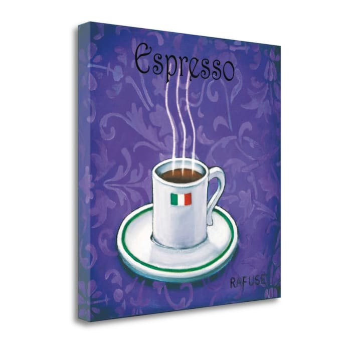 Fine Art Giclee Print on Gallery Wrap Canvas 20 In. x 20 In. Espresso By Will Rafuse Multi Color