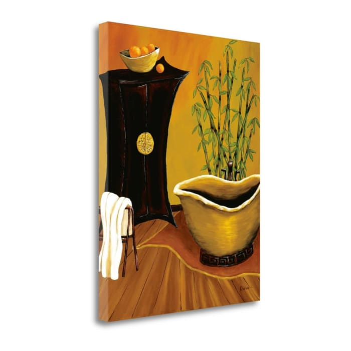 Fine Art Giclee Print on Gallery Wrap Canvas 18 In. x 24 In. Asian Bath By Krista Sewell Multi Color