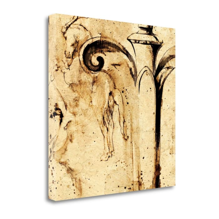 Giclee Print on Gallery Wrap Canvas 20 In. x 20 In. Classical Style - A By Paul Panossian , Multi Color