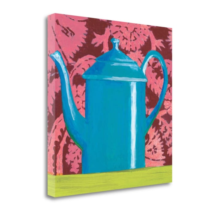 Giclee Print on Gallery Wrap Canvas 20 In. x 20 In. Tempest In A Teapot IV By Liz Jardine Multi Color