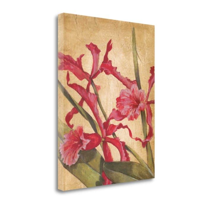 Fine Art Giclee Print on Gallery Wrap Canvas 21 In. x 27 In. Hawaiian Tropics I By Liz Jardine Multi Color