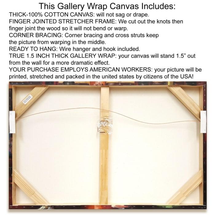 Fine Art Giclee Print on Gallery Wrap Canvas 36 In. x 12 In. Wicked By Jo Moulton Multi Color