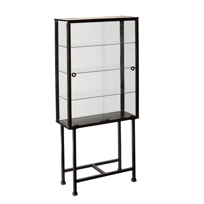 Cerise Sliding Door Display Cabinet