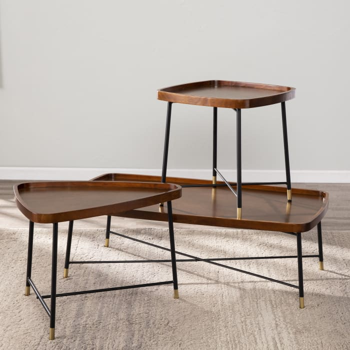 Constance Midcentury Modern Square End Table