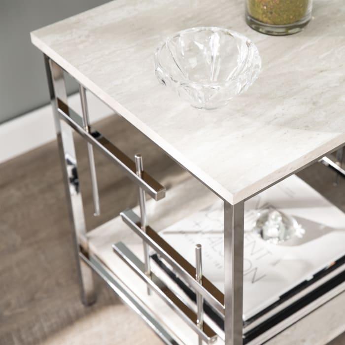 Bernadette Faux Marble End Table
