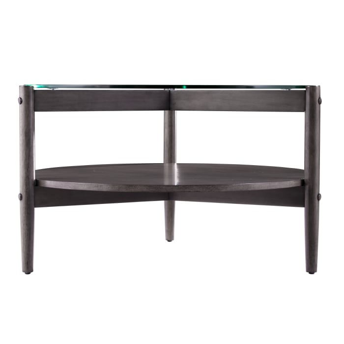 Erwan Round Glass-Top Cocktail Table