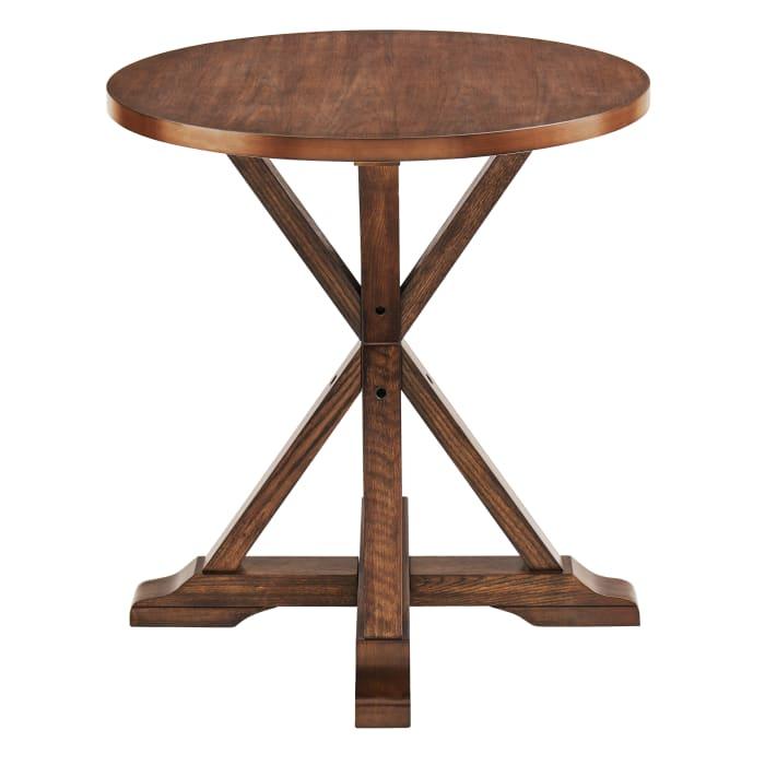 Abner Farmhouse Bistro Table - Brown