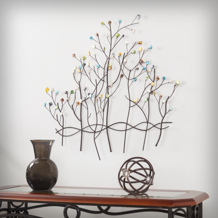 Beaded Forest Wall Sculpture