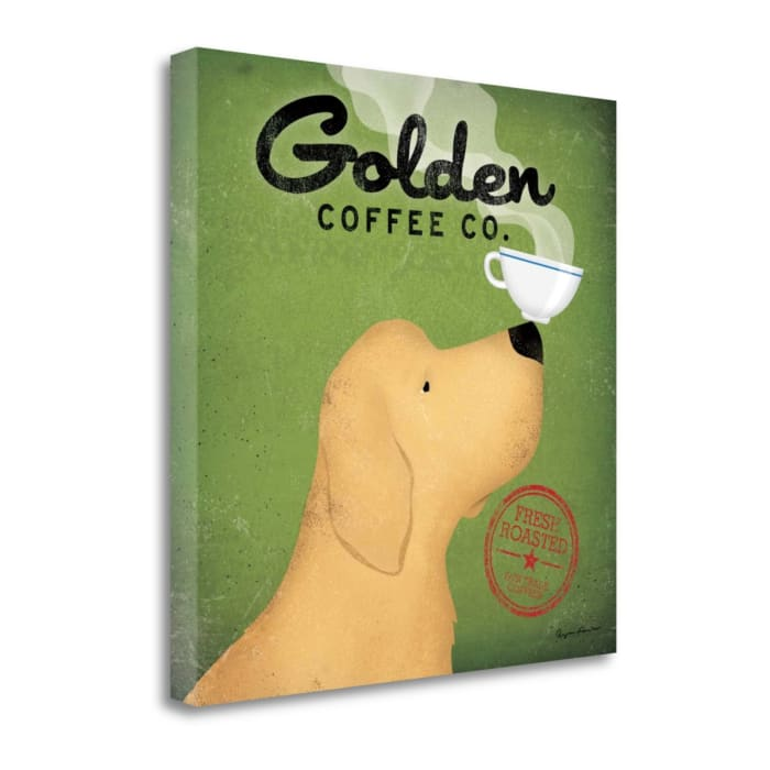 Fine Art Giclee Print on Gallery Wrap Canvas 20 In. x 20 In. Golden Coffee Co. By Ryan Fowler Multi Color